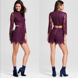 Pants - Purple Lace Romper